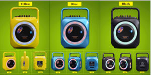 6.5 Inch Yellow Colorful Bluetooth Speaker with Mic for Stage F105 pictures & photos