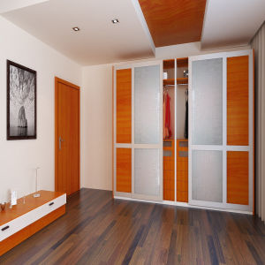 Melamine MDF Wardrobe with Hinge Door pictures & photos