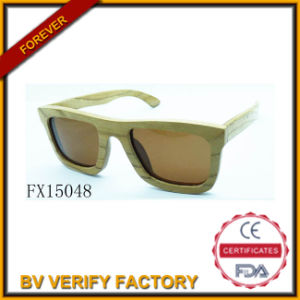 Alibaba Trade Assurance Square Wooden Sunglasses (FX15048) pictures & photos