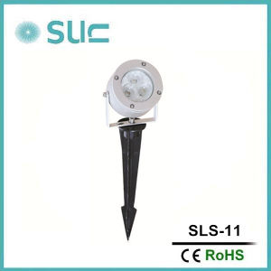 DC12V Single LED Color Aluminum Material 3.8W Silver Spot Light IP65 Can Used on Wall, City Illumination pictures & photos