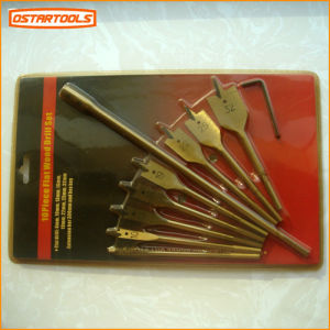 Titanium Coating Wood Flat Drill Bits Set pictures & photos