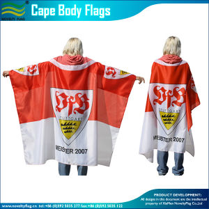 Sports Football Fan Cape Flag (NF07F02017) pictures & photos