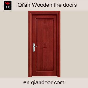 Cheey Skin Cherry Veneer Wooden Fire-Rated Door pictures & photos