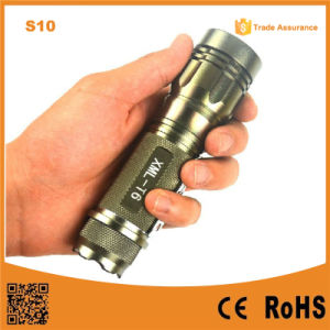 S10 Gold 400lumen Aluminum Rechargeable Zoom Easy Carry Adjustable Mini LED Flashlight pictures & photos