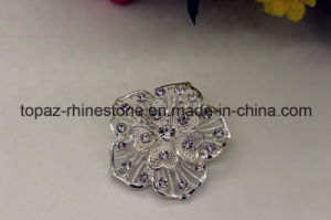 Fashion Metal Silver Plated Jewelry Rhinestone Brooch with Zircon (TB010) pictures & photos