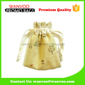 Custom Printing Small Cotton Drawstring Packing Bag for Gift pictures & photos
