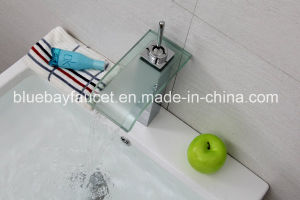 Square Single Lever Basin Mixer Faucet LED Brass Tap pictures & photos