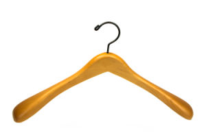 Luxury Hotel Wooden Coat Clothes Hanger for Garment Suit Clothing Display (YLWD-b9) pictures & photos