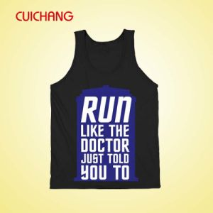 Wholesale Hot Sale Professional 100% Cotton Gym Singlets Tank Top with Silk Screen Printing (AT-115) pictures & photos