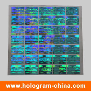 Blue 3D Laser Security Hologram Sticker pictures & photos