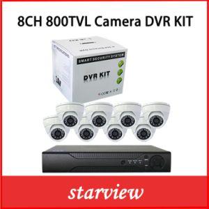 8CH 800tvl IR CCTV Security Dome Camera Dvrkits pictures & photos