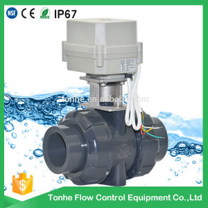Dn40 1.5 Inch PVC UPVC Plastic Electric Motorized Ball Valve pictures & photos