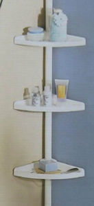 3 Tier Plastic Bathroom Wall Shampoo Corner Rack Shelf Tk21226