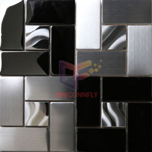 304 Black Mix Silver Stainless Steel Mosaic Tile (CFM908) pictures & photos