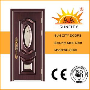 Good Quality Glass Entry Steel Door Design (SC-S069) pictures & photos
