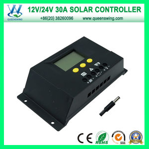 30A 12V/24V Auto PWM Solar Charge Controller (QWP-1430RSL) pictures & photos