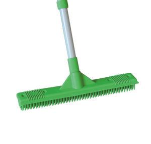 Telescopic Handle Rubber Broom (1404) pictures & photos
