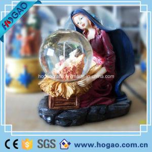 Polyresin Maria Snow Globe (HG185) pictures & photos