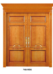 Natural Solid Wood Interior Doors New Style Foshan China