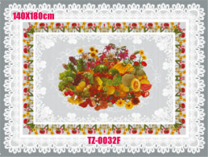 Plastic PVC Transparent Table Cloth/ Oilcloth pictures & photos