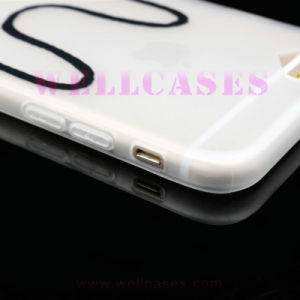Customized DIY Frotsted TPU Phone Case Embossed with Strap for iPhone6/6plus pictures & photos