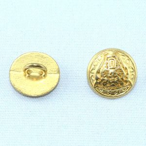 Plating Embossed Tiger Logo Alloy Metal Golden Button pictures & photos