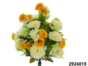 Artificial/Plastic/Silk Flower Carnation/Poppy Mixed Bush (2924015) pictures & photos