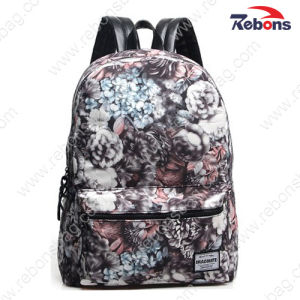 Fashion Printed Canvas Satchel Bag Daypack Backpack for Hiking, Travelling pictures & photos