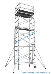 Moving Aluminum Folded Scaffolding for Sales pictures & photos