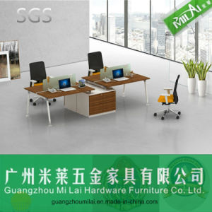 Reasonable Price Metal Leg Modern Office Desk with Cabinet pictures & photos