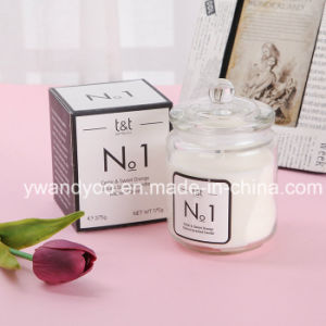 Scented Soy Birthday Candle in Clear Glass Jar with Lid pictures & photos