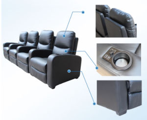 Electric Motion Recliner Cinema Sofa (B039-S) pictures & photos