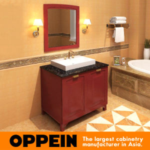 Oppein Classic Alder Wooden Bathroom Cabinets pictures & photos