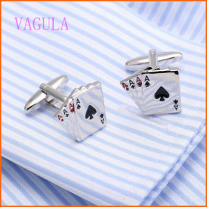 VAGULA Fashion Poker Personality Copper Cufflinks pictures & photos