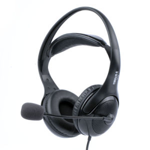 Double Comfortable Headband Headphone with Long Mic. pictures & photos
