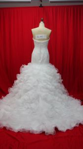Top Quality Lace Beaded A-Line Bridal Wedding Dresses (AL005) pictures & photos