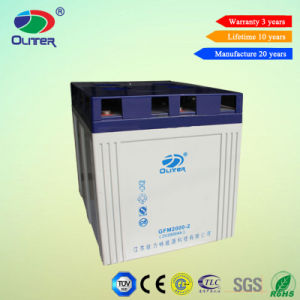 2V 2000ah Lead Acid Battery for Solar Backup System pictures & photos