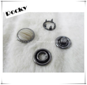 Fashion Pearl Ring Prong Fastener Snap Button for Jeans