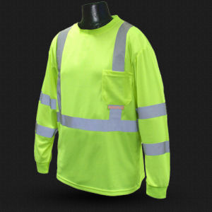 High Vis Safety T-Shirt with ANSI07 (T006) pictures & photos