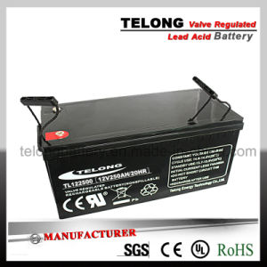 12V250ah Deep Cycle / Gel Battery for Solar Power System pictures & photos