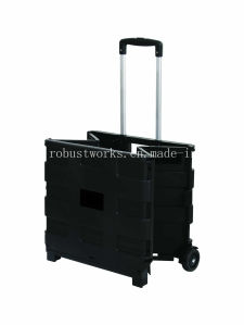 Plastic Folding Portable Shopping Cart (FC403K-2) pictures & photos