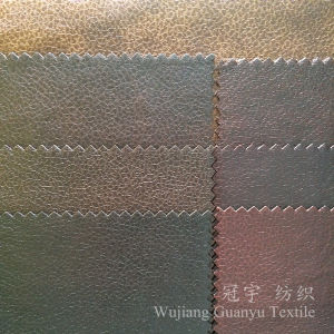 Printed Leather Polyester Suede Fabric for Sofa Covers pictures & photos