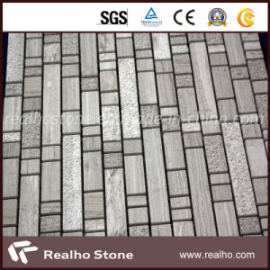 Matt Gery and White Mixed Color Marble Mosaic
