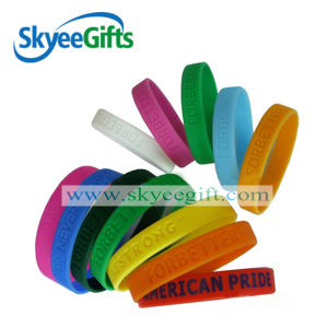 Custom Own Logo Silicone Wristbands Personalized Wristband pictures & photos