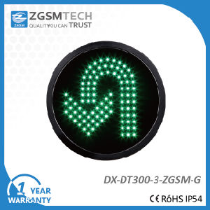 Turn Round U Turn Traffic Signal Light for Replacement Green Color Dia. 300mm 12 Inch pictures & photos