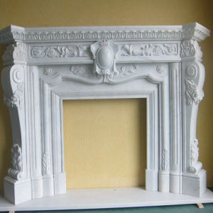 Classic Style Cream Marfil Marble Fireplace Surround pictures & photos