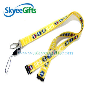 Plain Single Dark Black Polyester Customized Rope Lanyard pictures & photos