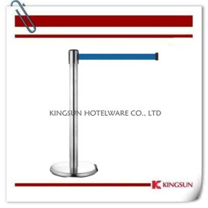 with Roller Comes with Cast Iron Flat Base Brake Retractable Belt Stanchions pictures & photos