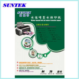 Suntek A4 Transparent Water Transfer Paper for Ceramic Inkjet Printer pictures & photos
