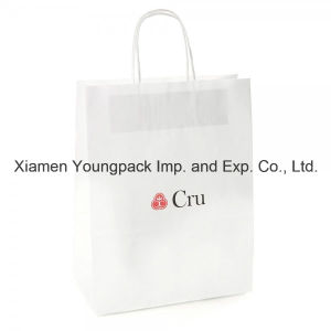 Fashion Promotional Custom White Kraft Paper Bag with Twisted Handles pictures & photos